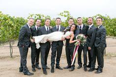 Temecula Wine Country Wedding @ Villa De Amore- wedding photos bride and groomsmen