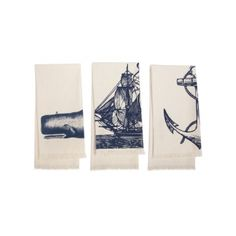 Thomas Paul Seafarer Hand Towel - Set of 3