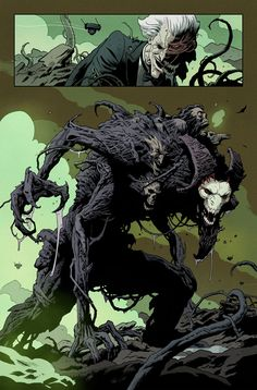 Nobody expected a big superhero event comic written by Jeff Lemire and Matt Kindt -- but the biggest draw for me is the art team of Paolo Rivera and Joe Rivera. Monster Concept Art, Monster Art, Creature Concept Art, Creature Design, Fantasy Creatures, Mythical Creatures, Comic Books Art, Comic Art, Character Concept