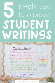 Want to have longer, more meaningful writing in your classroom? These 5 simple tips are guaranteed to help your students produce the best writings all year!