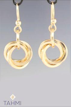 Bridal Earrings, Dangle Earrings, Diy Jewelry, Jewelry Making, Circle Earrings, Wire Wrapped Jewelry, Knots, Gifts For Her, Stud Earrings