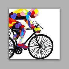 Contemporary art in modern canvas art art Panel still life 画1 piece 1 set bike cycle bicycle racing sport ordered and dispatched in 2-3 weeks