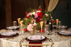 equestrian themed wedding utah florist studio stems pepper nix photography red gold pink tablescape