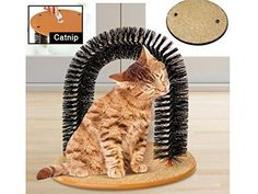 Cat Kitten Massaging Scratching Scratcher Pet Arch Self Grooming Groomer Soft Comfortable Bristles Scratching Play Nip Animal Luxury Cute