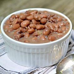 This recipe post covers The Secret to Perfect Old Fashioned Pinto Beans including cooking instructions for stove top, pressure cooker and slow cooker. Soup Beans, Bean Soup, Beans Beans, Refried Beans, Slow Cooker Recipes, Crockpot Recipes, Cooking Recipes, Cooking Puns, Slow Cooking