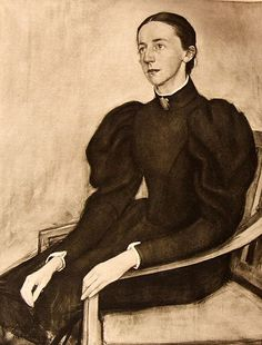 "Portrait of Mathilda Wrede by Eero Järnefelt (1896)  || Mathilda Wrede (March 8, 1864  - December 25, 1928) is known in Finland as ""Friend of the prisoners"". She was an evangelist, a baroness, but she is most known for being a precursor in the rehabilitation of prisoners."