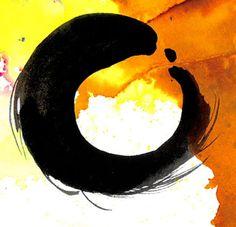 Enso Zen Circle No. 18 by Kathy Morton Stanion