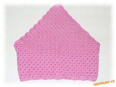 Háčkovaný čepičko – šátek pro culíkaté holky.