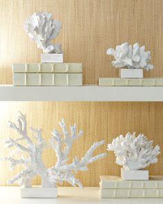 Faux Coral Sculptures at Horchow.