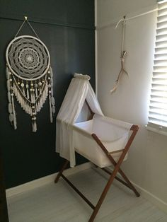 Large White and Gold Beads & Jewels Dreamcatcher by GoldenDreamers good idea to put big dreamcatcher above bed *repinned