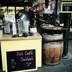 Duck confit sandwich at Borough Market - London, UK