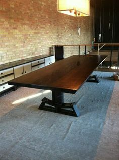 Live edge oak dining table industrial dining tables