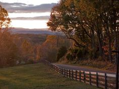 Sunset at Lantern Lane Farm in Culpeper. Bring your horses and enjoy the beautiful surroundings here.