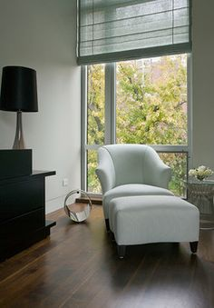 chair and ottoman for master bedroom  Cortland Residence - modern - bedroom - chicago - Nicholas Design Collaborative