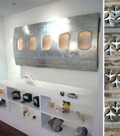 Recycled Airplane Parts