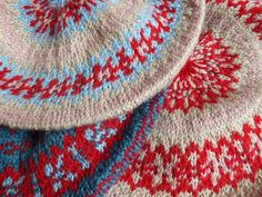 Hand Knit Fair Isle Berets - from a vintage pattern.