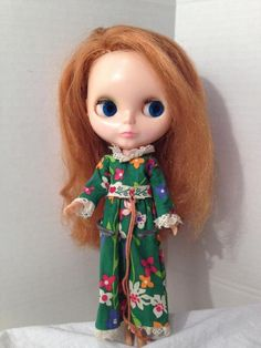 VINTAGE KENNER 1972 BLYTHE DOLL RED SIDE PART 7 LINES-NO CRACKS IN BODY! NICE! #Kenner #Dolls