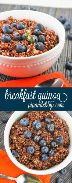 Breakfast Quinoa - I love this way to enjoy quinoa! Add berries for a fun twist!