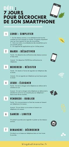 Défi : 7 jours pour décrocher de son smartphone If you feel stressed on a daily basis, that you tend to be glued to your smartphone and to receive comments from your exhausted entourage, maybe it' Feeling Stressed, How Are You Feeling, Smartphone Display, Vie Motivation, Detox Challenge, Miracle Morning, Digital Detox, Rv Hacks, Psychology Facts