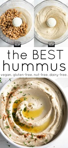 Classic Hummus Recipe (How to Make Hummus) - - This is the very BEST Hummus Recipe! Creamy, smooth, flavorful, and a million times better than your favorite store-bought version. Classic Hummus Recipe, Best Hummus Recipe, Best Tuna Salad Recipe, Hummus Recipe Creamy, Hummus Recipe No Tahini, Simple Hummus Recipe, Hummis Recipe, Recipes With Hummus, Chickpea Hummus