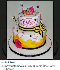 Girly bumble bee babyshower