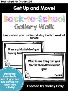 Back-to-School Gallery Walk   $