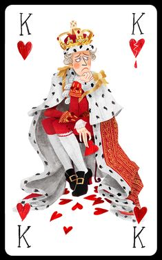 Hamilton Cards - Korina Dabundo // Design & Illustration King George III as the King of Hearts Alexander Hamilton, Hamilton Fanart, Hamilton Broadway, Hamilton Musical, Theatre Nerds, Musical Theatre, Theater, Roi Dagobert, Overwatch