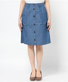 A.P.C. FEMME(ファム)のJUPE ECOLE P15(スカート) ブルー