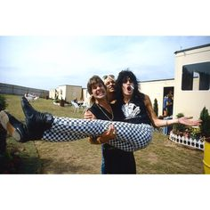 """Ross Halfin on Instagram: """"Ozzy, Tommy and Vince Donington Monsters Of Rock 1984. Notice Tommy with a cigarette in his nose as reenacted in The Dirt."""" Tommy Lee Motley Crue, Monsters, Rock, Image, Instagram, Musica, Skirt, Locks, The Rock"""