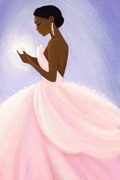 Black Love Art, Black Girl Art, Black Is Beautiful, Art Girl, Black Art Painting, Black Artwork, Black Disney Princess, Drawings Of Black Girls, African American Artwork