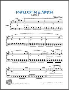 It is very important to take piano lessons in order to play the piano. You have to learn to read piano music if you plan to be a serious piano player. If you try to look into history, you will notice that most of the great piano p Easy Piano Sheet Music, Piano Music, Piano Lessons, Music Lessons, Prelude In E Minor, Piano Teaching, Learning Piano, Free Printable Sheet Music, Music Lesson Plans