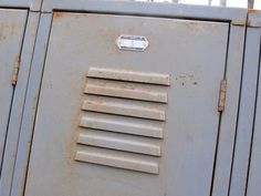 Old locker inset door grey Repinned by www.silver-and-grey.com