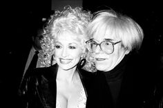 Dollie Parton and Andy Warhol