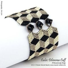 eTUTORIAL Cubic Dilemma Cuff by maneklady on Etsy