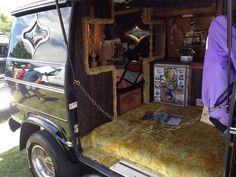 Custom van interior with shag carpet - CARAVAN Custom Van Interior, Camper Interior, Van Conversion Interior, Chevy Van, Dodge Van, Bus Living, Old School Vans, Vanz, Van Home
