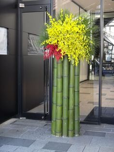 Kadomatsu traditional Japanese New Year decoration – Flowers Flowers Tropical Floral Arrangements, Unique Flower Arrangements, Unique Flowers, Exotic Flowers, Beautiful Flowers, Ikebana Arrangements, New Years Decorations, Stage Decorations, Flower Decorations