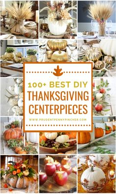 100 Best DIY Thanksgiving Centerpieces Bring a touch of fall into your home with these elegant DIY Thanksgiving centerpieces that will transform your Thanksgiving dinner table into a warm and cozy tablescape. You will find ideas for using wheat, pumpkins, Diy Thanksgiving Centerpieces, Thanksgiving Traditions, Thanksgiving Parties, Thanksgiving Crafts, Fall Crafts, Hosting Thanksgiving, Thanksgiving Tablescapes, Candle Centerpieces, Floral Centerpieces