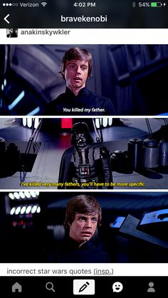 This quote is actually from a Star Wars comic set between ANH and ESB