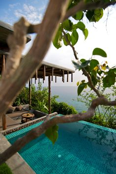 Luxury Pool Villa - This Pool Villa offers the largest pool, which is perfect for a morning dip or to cool down during a hot and sunny afternoon. Follow the walkway across to the tastefully designed living room and open the doors to feel the gentle breeze flowing through the whole pool villa. For a change of scenery, walk out into the open cozy terrace below, which is a simply wonderful place to unwind or just float away in this idyllic paradise.