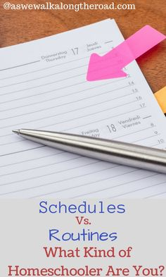 How do stay on track in your homeschool? Do you use a strict schedule or a flexible routine?