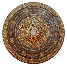 Fine Art Deco Arabic Caprice Hand Painted Ceiling Medallion In. Finished in Bronze and Gold by Fine Art Deco Ceiling Tiles, Ceiling Lights, Ceiling Fans, Ceiling Design, Copper Ceiling, Gold Ceiling, Modern Ceiling, Decorative Accessories, Decorative Items