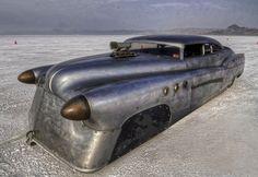 ❦ Jeff Brock's Bombshell Bonneville Buick. Straight Eight. 1952. 162MPH. http://brockartstudio.com/index.php