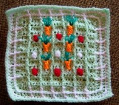 Garden patch from Sharon B. www.knit-a-square.com