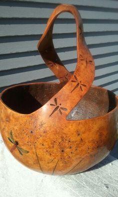 Gourd Planter or bowl gourd. By Deanna Eggebraaten $100