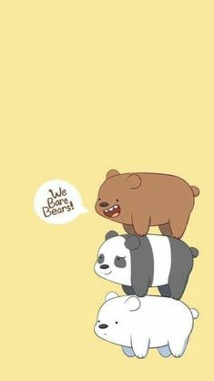 We Bare Bears Wallpapers Wallpaper Cave with regard to The Incredible Wallpaper We Bare Bears Kuning - All Cartoon Wallpapers Bear Wallpaper, Cute Wallpaper Backgrounds, Disney Wallpaper, Cartoon Wallpaper, Wallpaper Lockscreen, Mobile Wallpaper, We Bare Bears Wallpapers, Panda Wallpapers, Cute Wallpapers