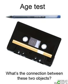 Today's youth will never understand the connection between these two objects.