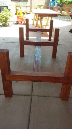Diy Bench For Kitchen Nook Reused 4x4 For Legs 2x6 Amp 2x4