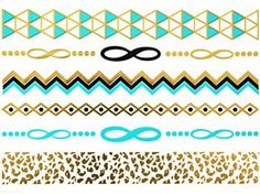 Novoskins Tattoo Artist Gold Foil, Silver Foil, Turquoise Blue Temporary Tattoo Jewellery transfer Leopard Print, Infinity, Bracelet, Geometric Collection Set - http://www.yourdreamtattoos.com/novoskins-tattoo-artist-gold-foil-silver-foil-turquoise-blue-temporary-tattoo-jewellery-transfer-leopard-print-infinity-bracelet-geometric-collection-set/?utm_source=PN&utm_medium=http%3A%2F%2Fwww.pinterest.com%2Fpin%2F368450813235896433&utm_campaign=SNAP%2Bfrom%2BYour+Dream+Tattoo