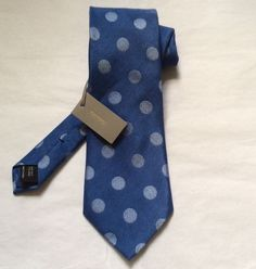 NWT AUTH TOM FORD 2014/15 TEXTURED LARGE DOT LIGHT BLUE/GREY NECK TIE 3.6 WIDTH #TomFord #NeckTie