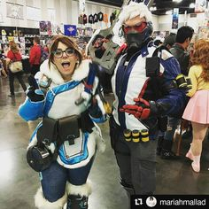 Who's your fav: Mei  or Soldier ? Credit: @mariahmallad  #overwatch #mei #soldier #overwatchcosplay #cosplay #games #potd #like #cute #follow #awesome #art #daily